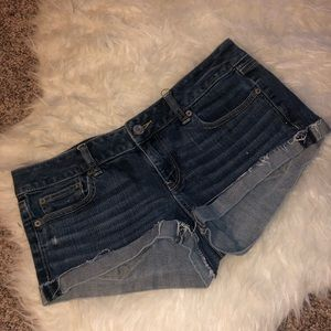 American Eagle denim short shorts size 8